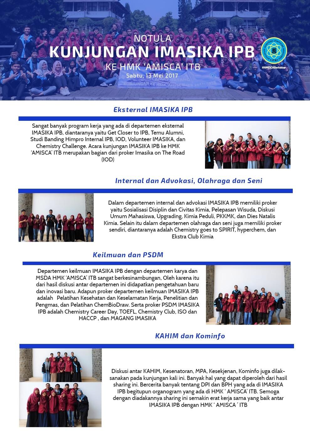 Infografis Kunjungan IMASIKA IPB